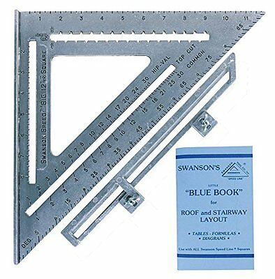 Swanson Tool SO107 12-Inch Speed Square w Layout Bar + Book for Construction