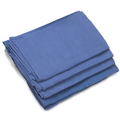 12 Pieces-NEW BLUE GLASS CLEANING SHOP TOWELS/HUCK/ SURGICAL/ DETAILING TOWELS