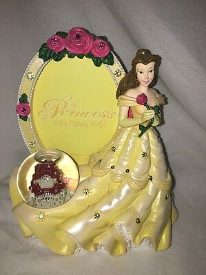 Disney Princess Belle Picture Frame Figurine Snow Globe Beauty and the Beast