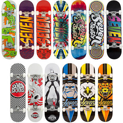 SEVEN SKATES Complete Skateboard - 13 Styles to Choose From - FREE DELIVERY