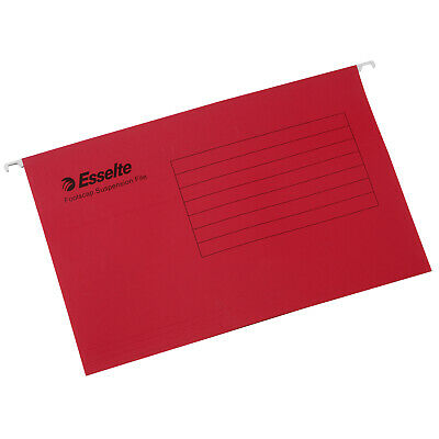 ***NEW*** Esselte Standard Suspension Foolscap File 10 Pack -Red