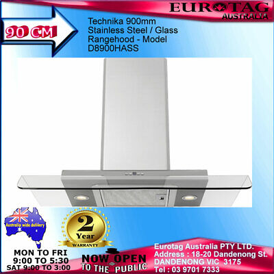 EUROTAG 60cm Curved Glass Canopy Stainless Steel Range Hood European Design