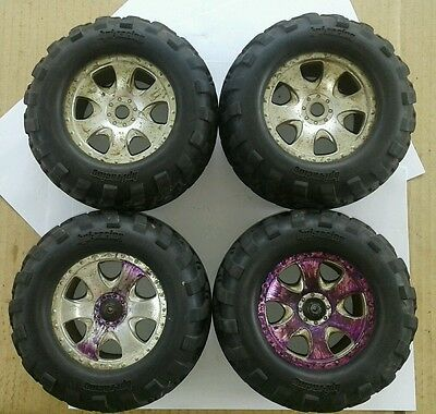 Rc Hpi Racing Wheels And Tyres 17Mm Hex Excellent Tread - Only 2 Axle Nuts