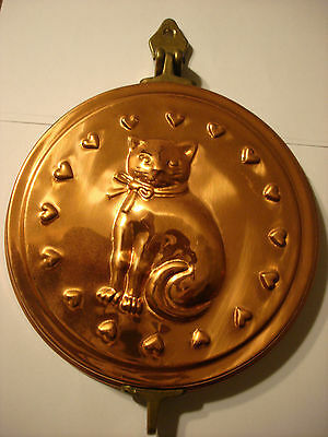 Brass and copper Kitty Cat Kitten Tail Key Ring Hook Holder Hanger