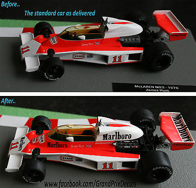 Formula F1 Car Collection water slide DECALS - Marlboro McLaren M23 James Hunt