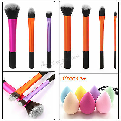 New 3 Sets Real Techniques MakeUp Brushes Cosmetic Core Collection Starter Set