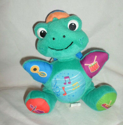 """Baby Einstein Frog Musical Learning 9""""  Plush Soft Toy Stuffed Animal"""