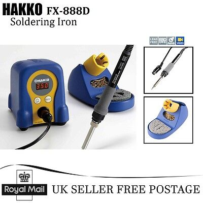 NEW HAKKO FX-888D Digital Iron Soldering Station with LCD Display Password Mode