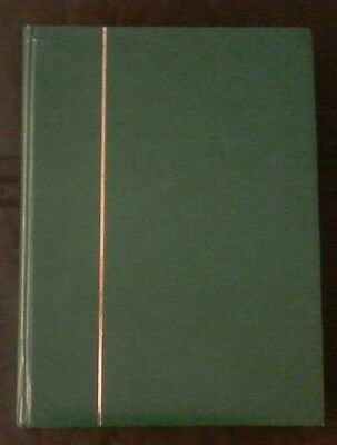 Stamp Stock Book,green,used,32 double-sided(64)pgs,some wear & tear,#1357
