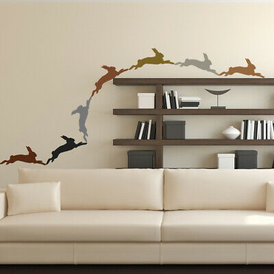 Leaping Hare Rabbit Wall Sticker Pack WS-33089