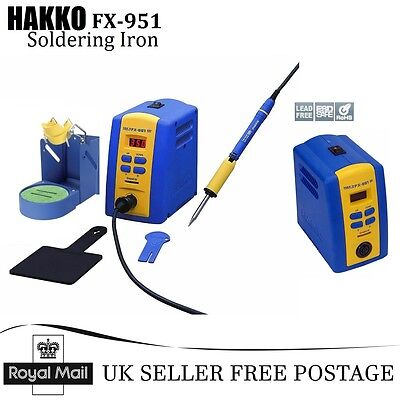 100% New HAKKO FX-951 Iron Soldering Station 70W with Power-Save Function UK