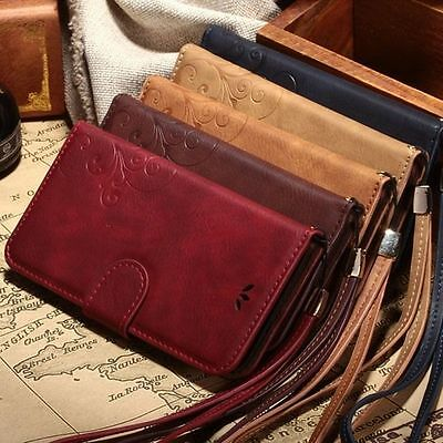 Luxury Leather Wallet Case Stand Flip Cover Vintage for Apple iPhone 7 6S Plus