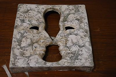Vintage  Rare  William Hogarth Paper Mache  Face  Mask