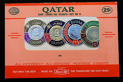 Qatar 1966 Coins on Stamps Mint in Original HARRIS Honor Built Sales Package