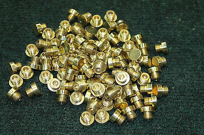 Lot of 10 Old Baldwin Brass Button Tips for 4 x 4 or 4.5 x 4.5 Hinges-