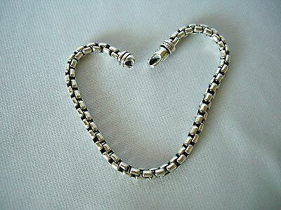 David Yurman Sterling Silver Box Chain Bracelet 5Mm ~ 9""