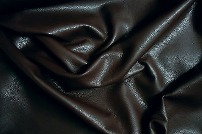 Dark brown cowhide for leathercraft Small pieces  Barkers Hide and Skins N140