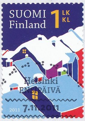 Finland 2011 Used Stamp - Christmas Winter Snow - First Day Cancel