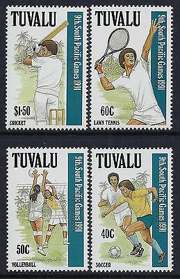 1991 TUVALU 9th SOUTH PACIFIC GAMES SET OF 4 FINE MINT MNH/MUH