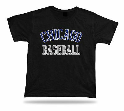 Chicago BASEBALL t-shirt tee blue white gray IL USA summer apparel field design