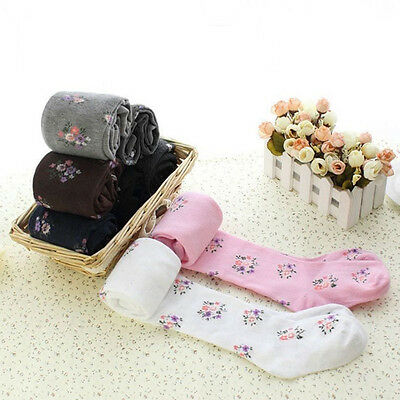 Toddlers Girls Kids Ballet Tights Floral Footed Pantyhose Stockings Dance Socks