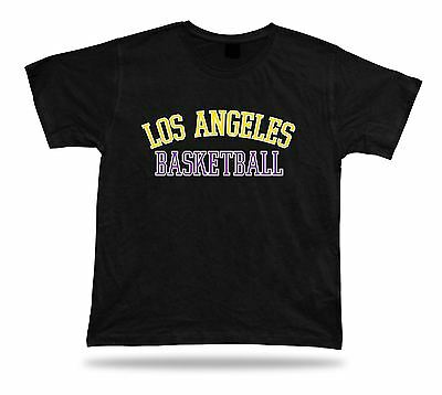 Los Angeles USA BASKETBALL t-shirt tee red blue white warm up style court side