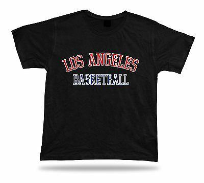 Los Angeles USA BASKETBALL t-shirt tee warm up style court side design