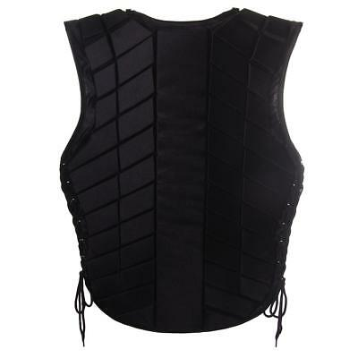 Safety Equestrian Horse Riding Vest Protective Body Protector Black Adult S