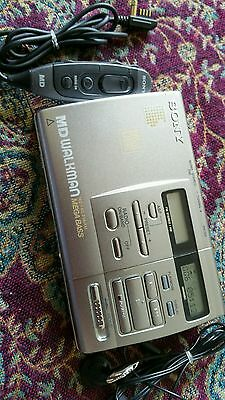 Sony Vintage Walkman Minidisc Recorder/Radio is listed MZ-F40 Mint Condition