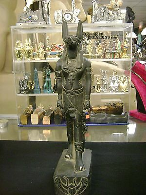 Vintage The God Anubis Hand Carved Statue 1977 Made In Egypt
