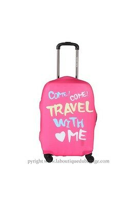 TRAVEL WORLD Housse TEXTE TRAVEL Rose taille L
