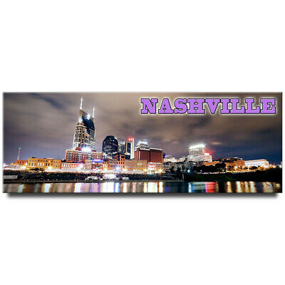 Fridge magnet with panoramic view of Nashville, Tennessee