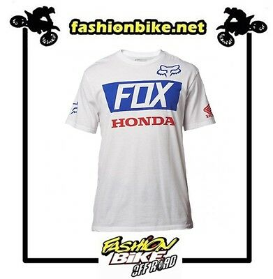 Fox T-Shirt  Honda  Basic Standard Tee White Taglia Xl