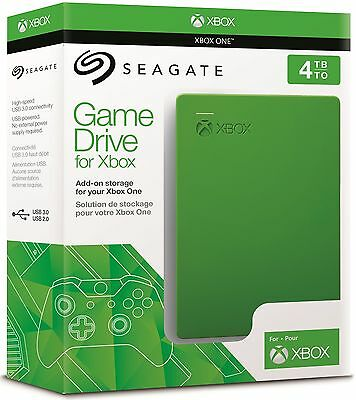 Seagate Game Drive For Xbox One 4TB USB 3.0 Portable External Hard Drive NEW