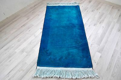 Free Shipping Rug Overdyed Turkish Rug Turquoi Overdyed Area Rug 2.2 ft x 4.5 ft