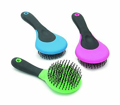 NEW Shires Mane and Tail Brush Grooming Horse Pony Riding Pink Blue Ezi-Groom