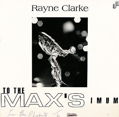 """RAYNE CLARKE """"To The Max'simum"""" (Busybody Records) UK issue (Dancehall)"""