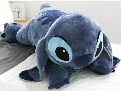 New Disney Stitch 120cm 47in Big Size Lying Plush Doll + Expedited ship + Gift