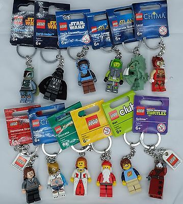 NEW Genuine Lego Minifigure Key Rings/chains 12 to choose Party/stocking fillers