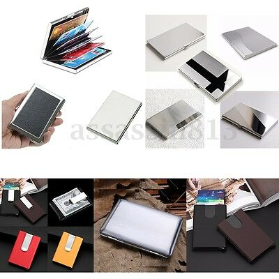 Men Women Aluminum Slim ID Credit Card Holder Wallet Case RFID Protector Purse