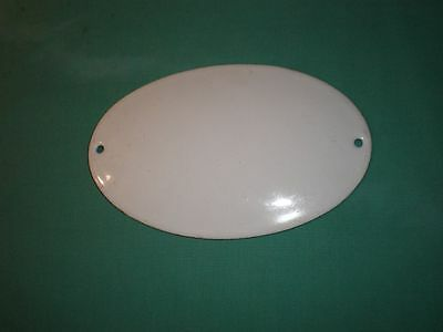 antique enemeled plain white sign/plate/ Collectables/British