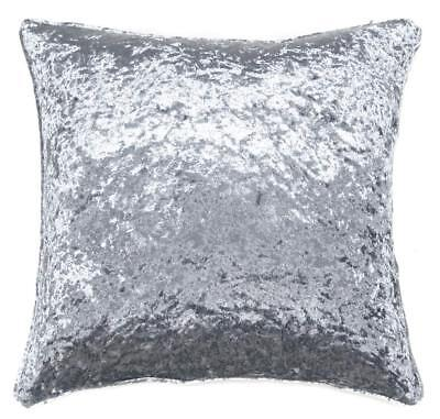 Silver Grey Shimmery Thick Crushed Velvet Luxury Cushion Cover £6.49 Each