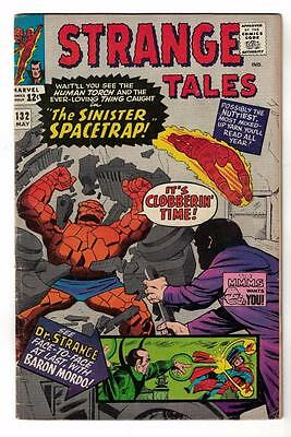 MARVEL Comics STRANGE TALES THING HUMAN TORCH #132 1965 FN- Mordo