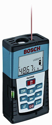 Bosch GLR225 Precision Digital Laser Distance Measuring Tool with 225 Foot Range