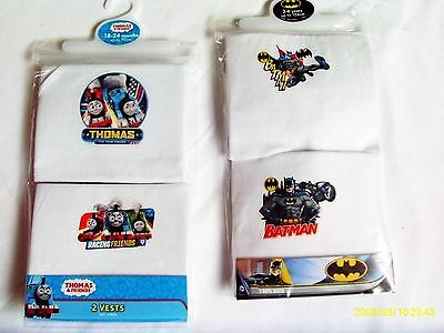 Boy`s 2 Pack Ever Popular Character Vests