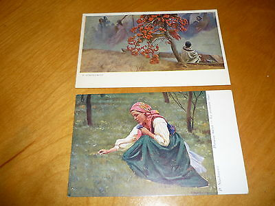 Poland Type By P.stachiewicz.  - 2 Vintage Post Cards # 2106
