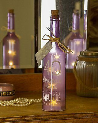 Boxer 40 Birthday Starlight Bottle, Light Purple