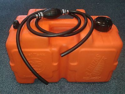 NEW 25 L Plastic Fuel Tank and FUEL LINE 2m Petrol Diesel Boat Yacht outboard
