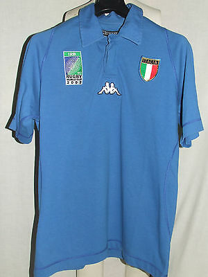 Maglia Shirt Trikot Maillot Rugby Sport Italia Italy World Cup 2003