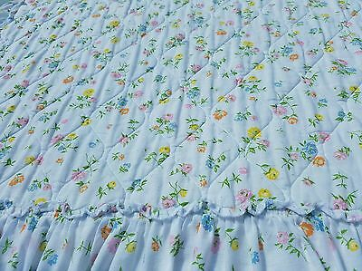Vintage Floral Bedspread Ruffled Twin Shabby Cottage Cute!